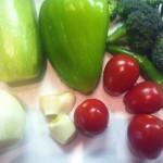 Gemüse für die Spagettisauce